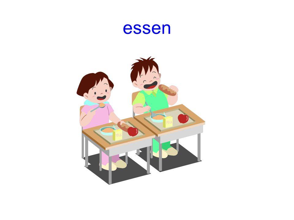 essen (to eat) PräsensImperfekt isstaß Perfekt hat gegessen