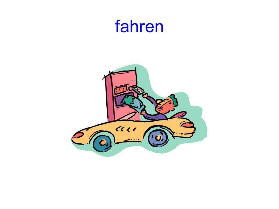 fahren (to drive, go (by machine)) PräsensImperfekt fährtfuhr Perfekt ist gefahren