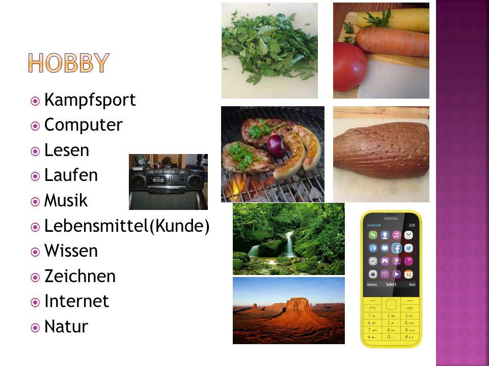  Kampfsport  Computer  Lesen  Laufen  Musik  Lebensmittel(Kunde)  Wissen  Zeichnen  Internet  Natur