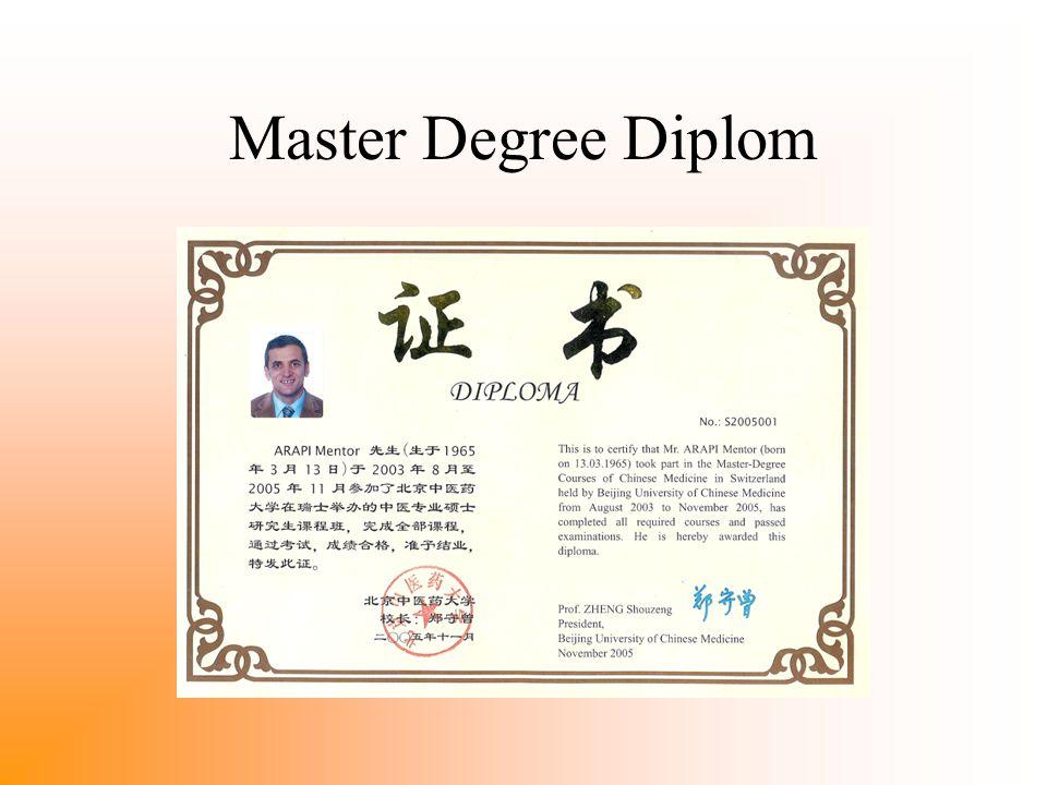 Master Degree Diplom
