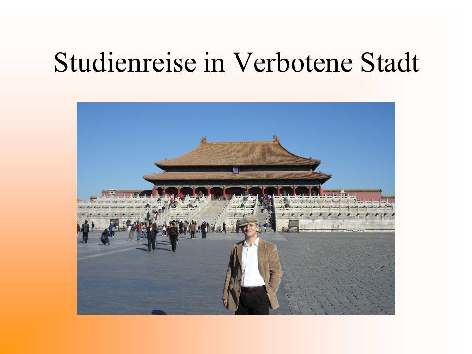 Studienreise in Verbotene Stadt