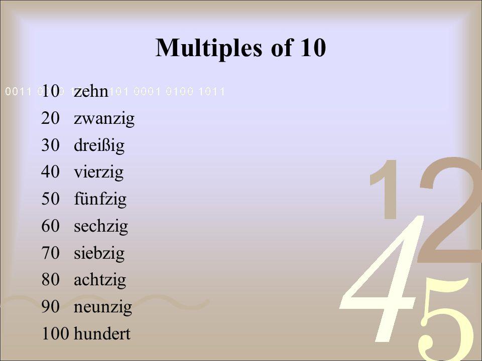 0 null 1eins 2zwei 3drei 4vier 5fünf 6sechs 7sieben 8acht 9neun 10zehn 11elf 12zwölf 13dreizehn 14vierzehn 15fünfzehn 16sechzehn 17siebzehn 18achtzehn 19neunzehn 20zwanzig