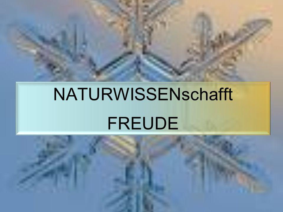 NATURWISSENschafft FREUDE