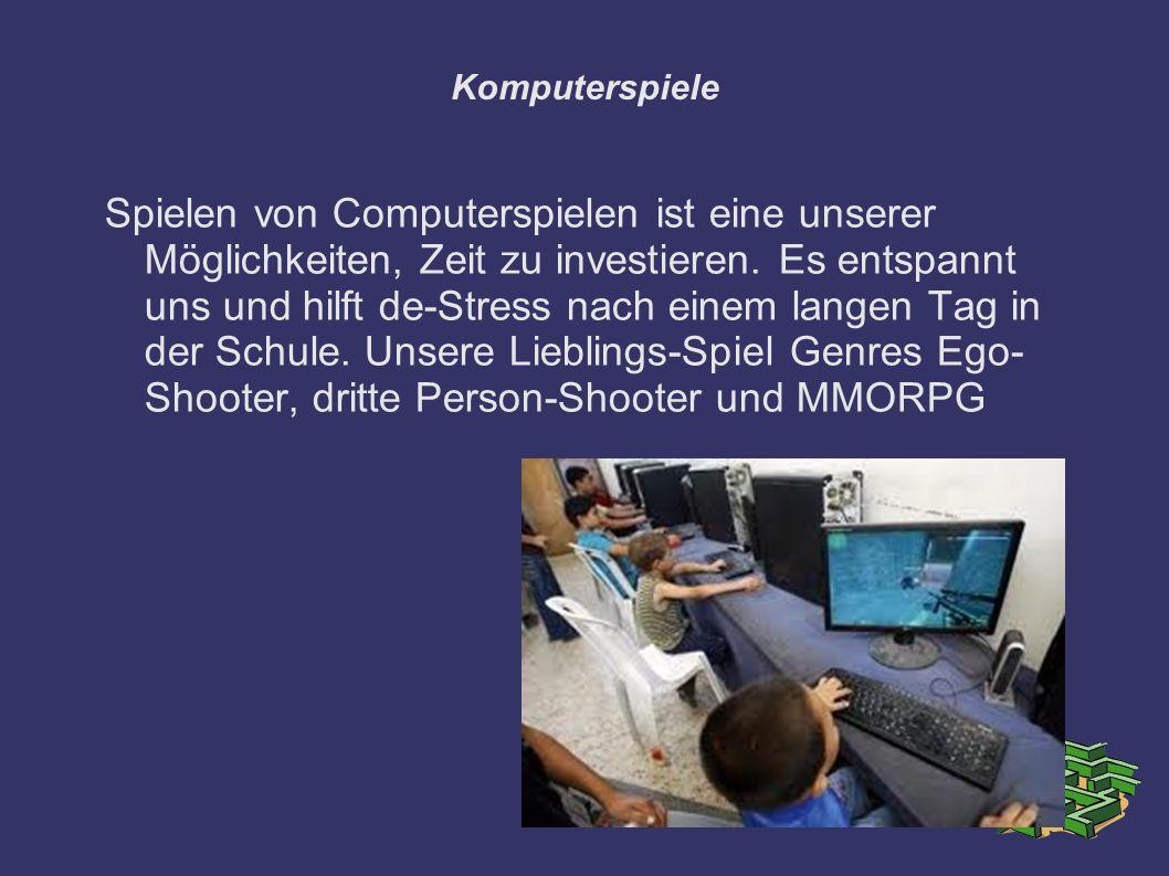 Komputerspiele Spielen von Computerspielen ist eine unserer Möglichkeiten, Zeit zu investieren. Es entspannt uns und hilft de-Stress nach einem langen