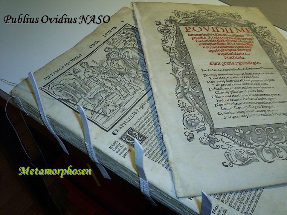 Publius Ovidius NASO Metamorphosen