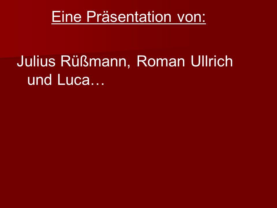 Eine Präsentation von: Julius Rüßmann, Roman Ullrich und Luca…