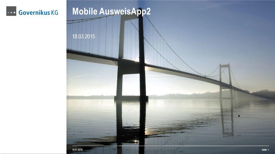 18.03.2015 Mobile AusweisApp2 19.01.2015 Seite 1