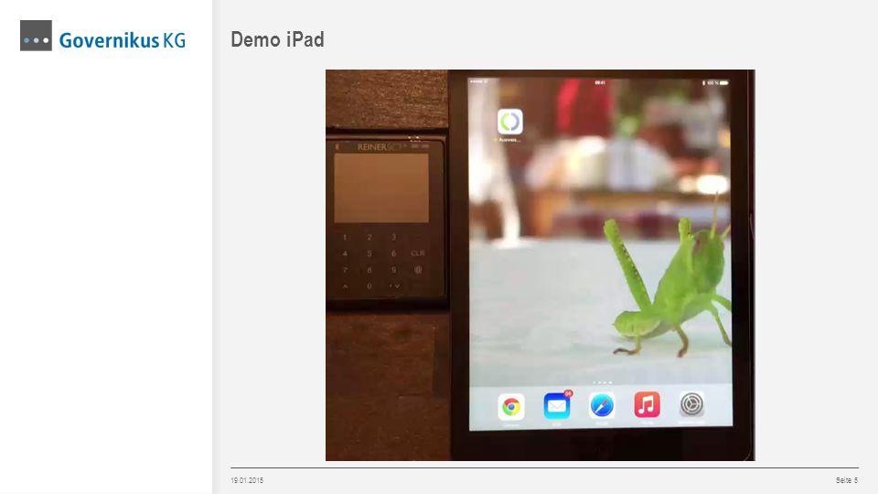 19.01.2015 Seite 5 Demo iPad