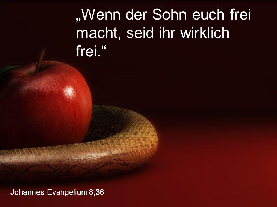 """Johannes-Evangelium 8,36 """"Wenn der Sohn euch frei macht, seid ihr wirklich frei."""""""