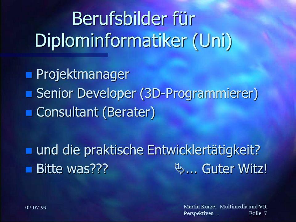 Martin Kurze:Multimedia und VR Perspektiven...