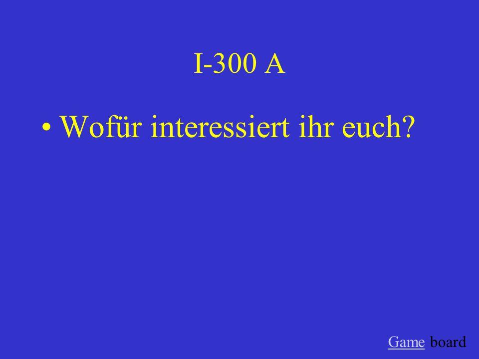 I-200 A Woruber sprechen Tobias und Axel? Game board