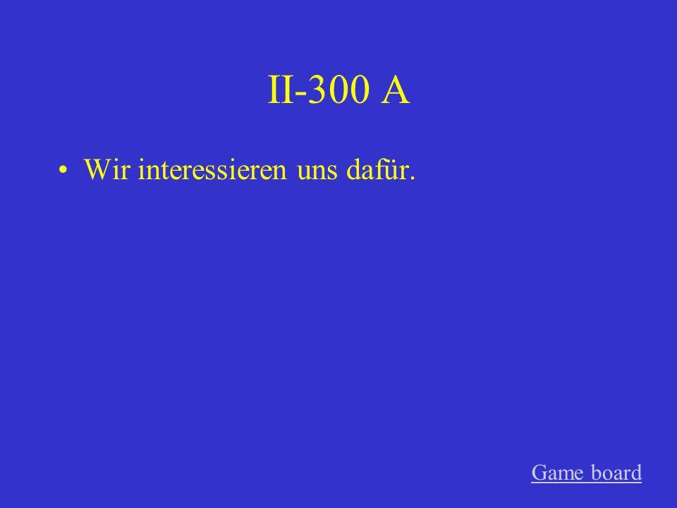 II-200 A Du freust dich darauf. Game board