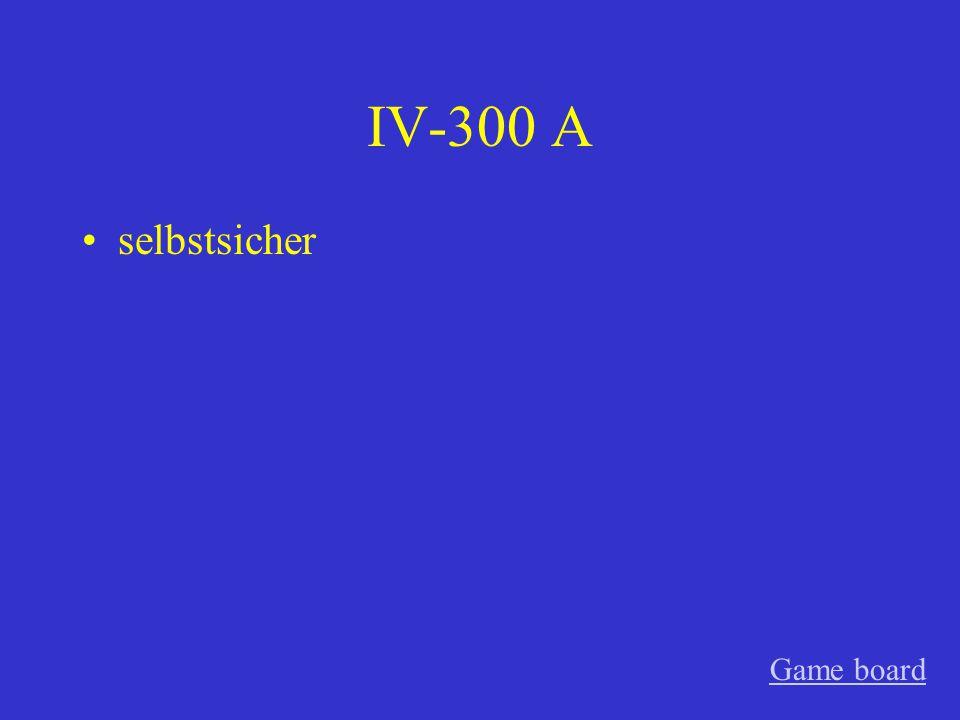 IV-200 A die Beziehung Game board