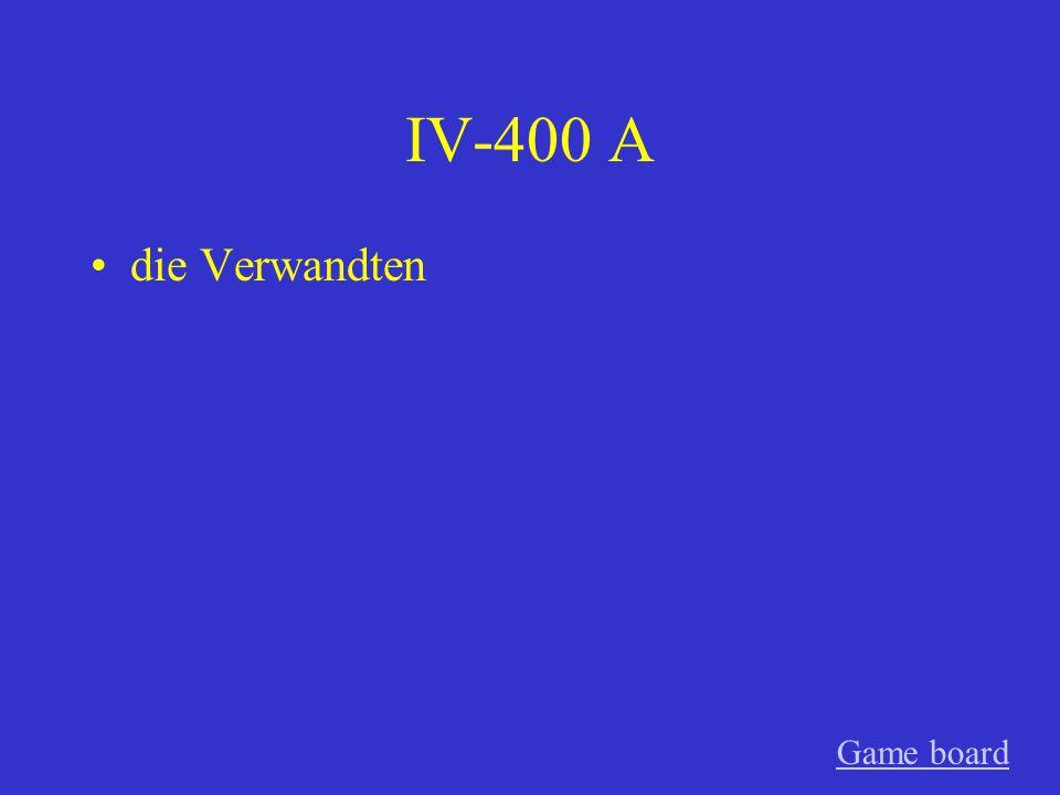 IV-300 A selbstsicher Game board