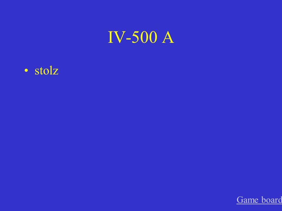 IV-400 A die Verwandten Game board
