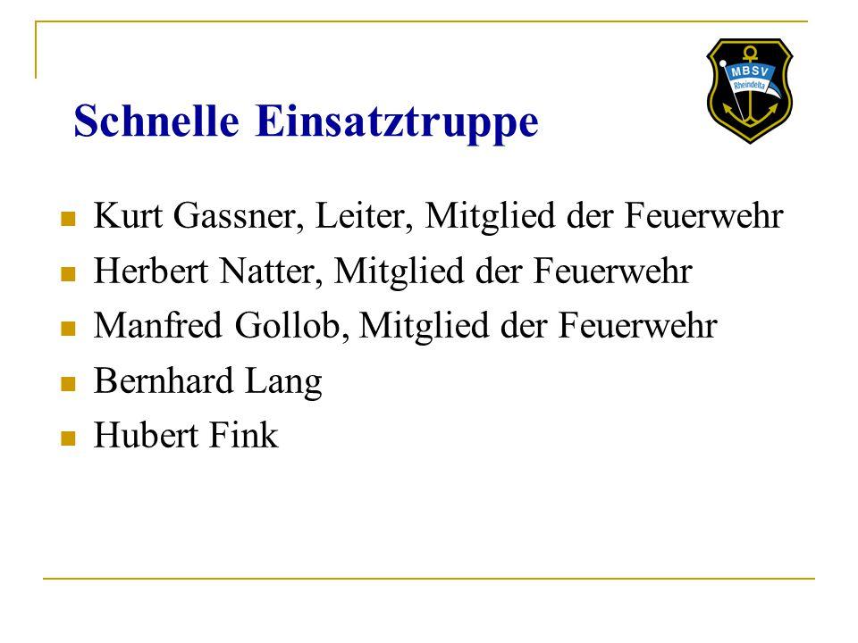 Schnelle Einsatztruppe Kurt Gassner, Leiter, Mitglied der Feuerwehr Herbert Natter, Mitglied der Feuerwehr Manfred Gollob, Mitglied der Feuerwehr Bern