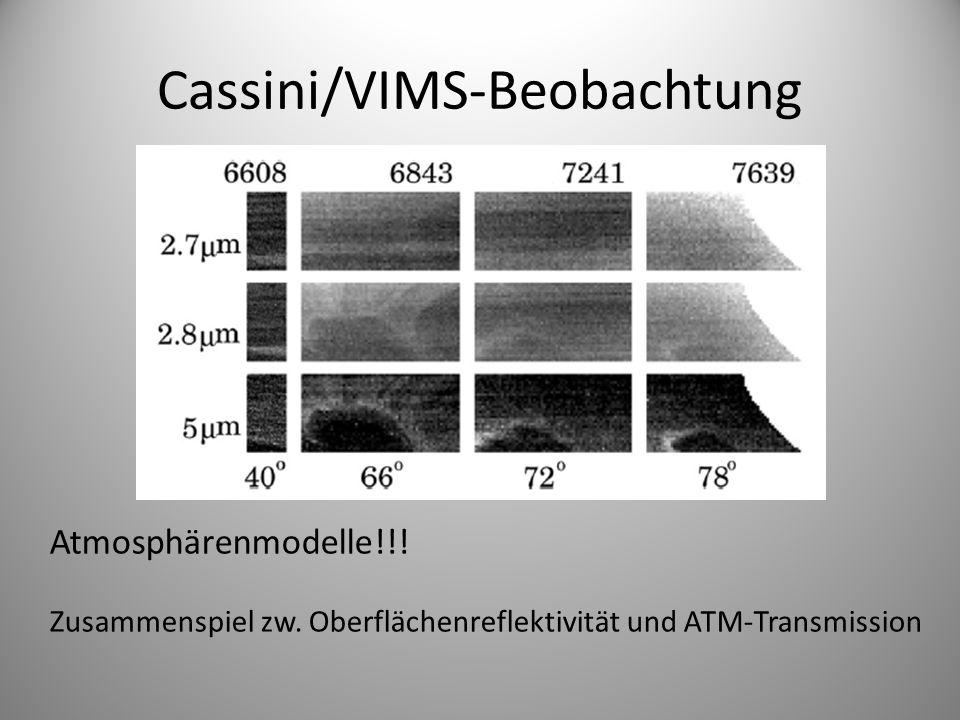 Cassini/VIMS-Beobachtung Atmosphärenmodelle!!. Zusammenspiel zw.