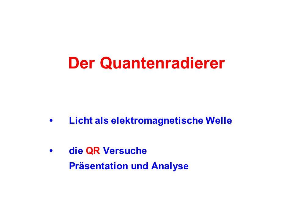 Der Quantenradierer Licht als elektromagnetische Welle die QR Versuche Präsentation und Analyse