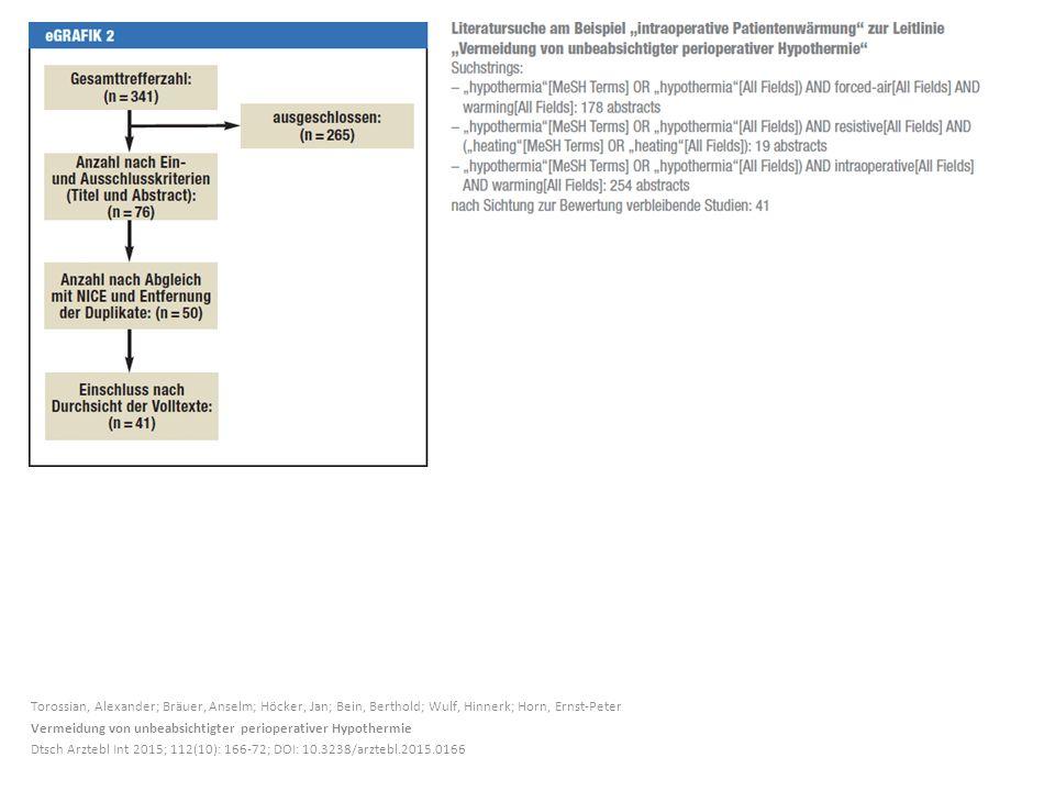 Torossian, Alexander; Bräuer, Anselm; Höcker, Jan; Bein, Berthold; Wulf, Hinnerk; Horn, Ernst-Peter Vermeidung von unbeabsichtigter perioperativer Hyp