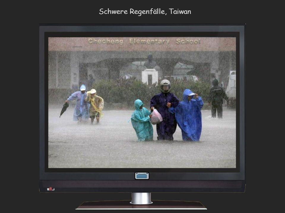 Regenfälle Überschwemmungen, Chengdu und Sichuan, China