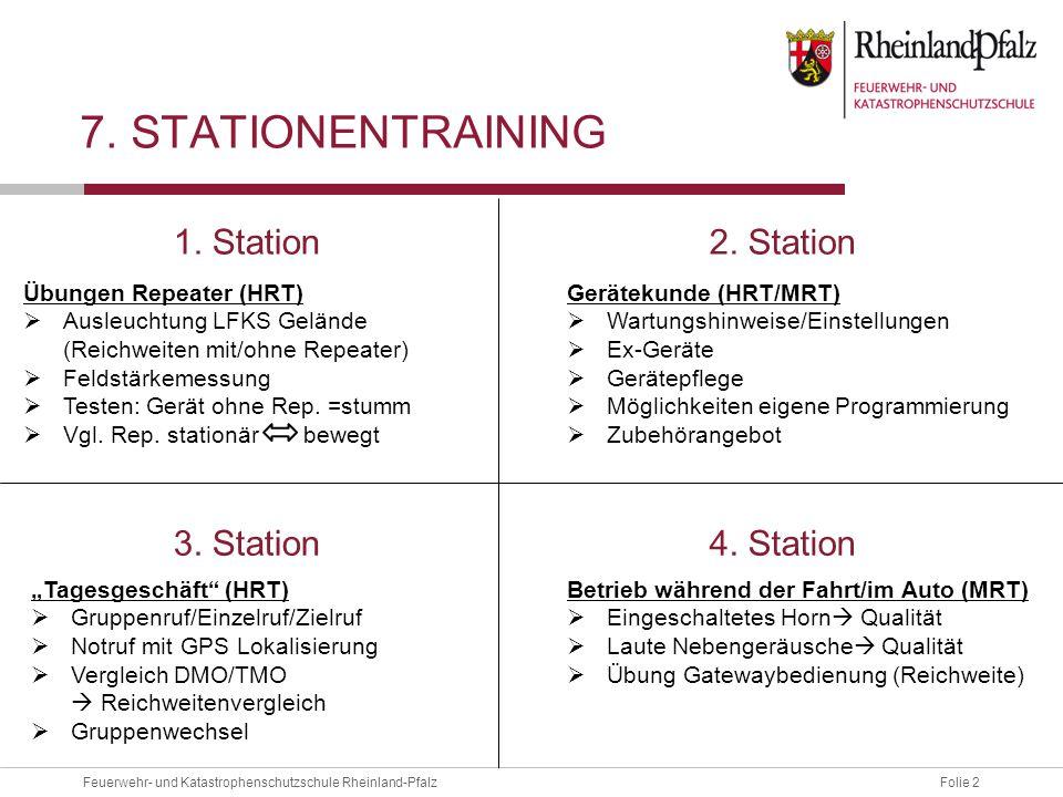 Folie 2Feuerwehr- und Katastrophenschutzschule Rheinland-Pfalz 7.