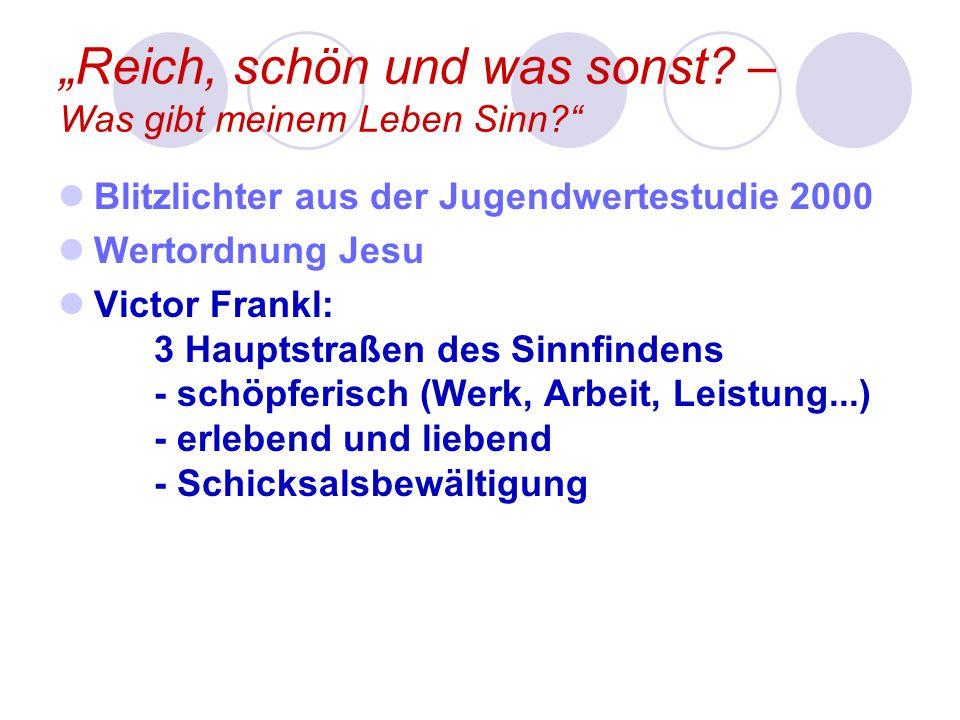 """""""Reich, schön und was sonst."""