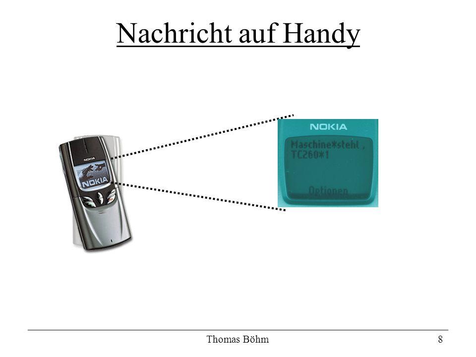 Thomas Böhm8 Nachricht auf Handy
