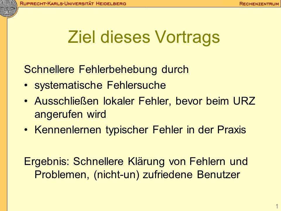 2 Themen des Vortrages Erste Feststellungen / Erste Hilfe Systematische Fehlersuche Werkzeuge zur Fehlersuche Fehlerbehebung Zum Schluss
