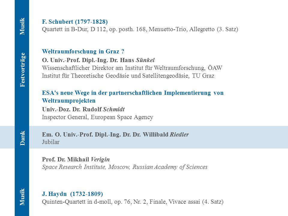F. Schubert (1797-1828) Quartett in B-Dur, D 112, op.
