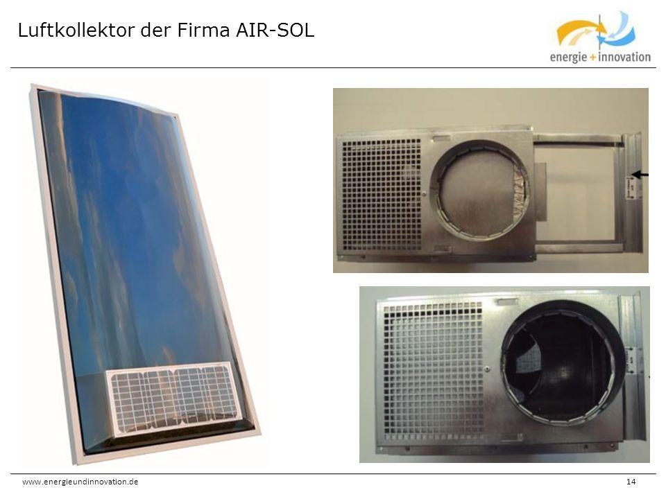 www.energieundinnovation.de14 Luftkollektor der Firma AIR-SOL