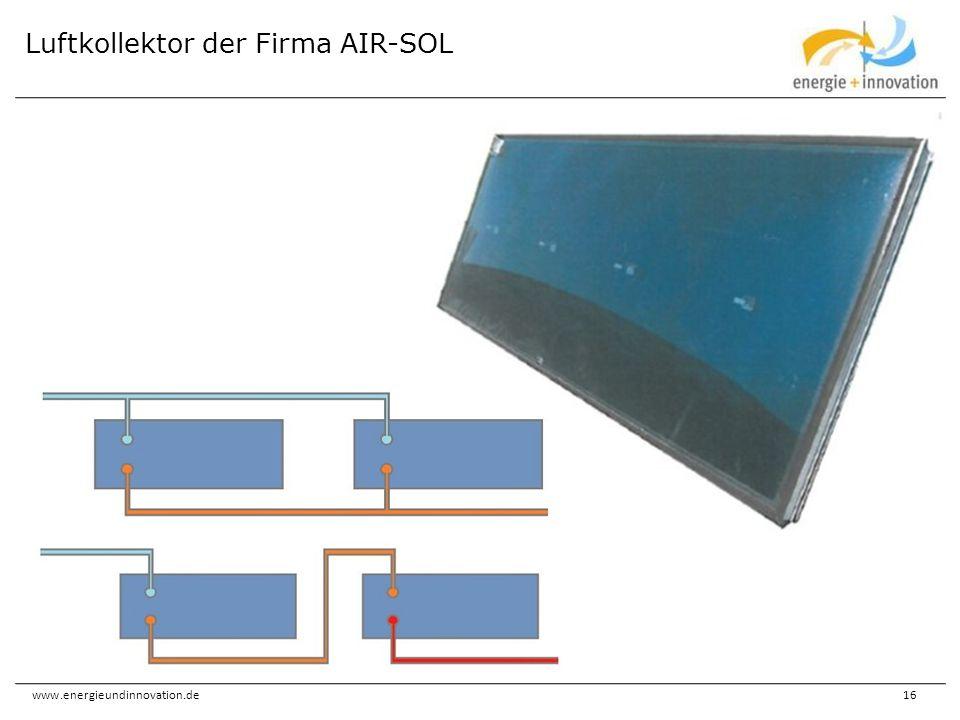 www.energieundinnovation.de16 Luftkollektor der Firma AIR-SOL