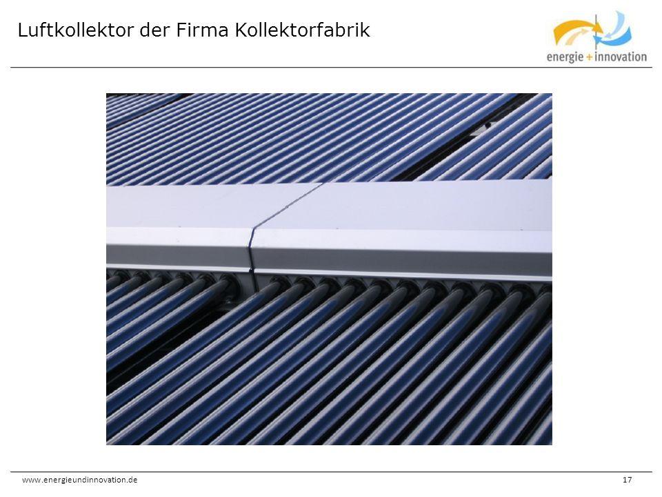 www.energieundinnovation.de17 Luftkollektor der Firma Kollektorfabrik
