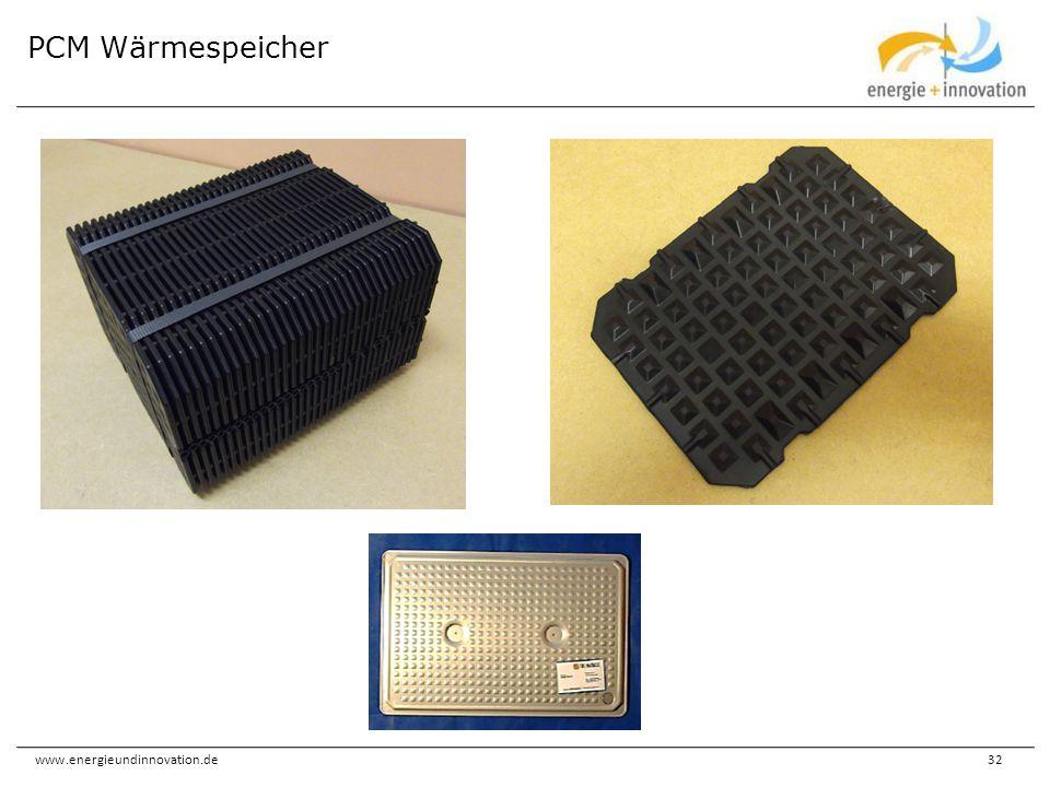 www.energieundinnovation.de32 PCM Wärmespeicher
