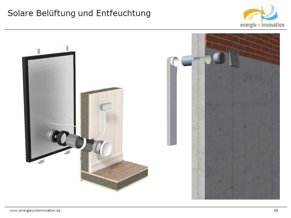 www.energieundinnovation.de38 Solare Belüftung und Entfeuchtung