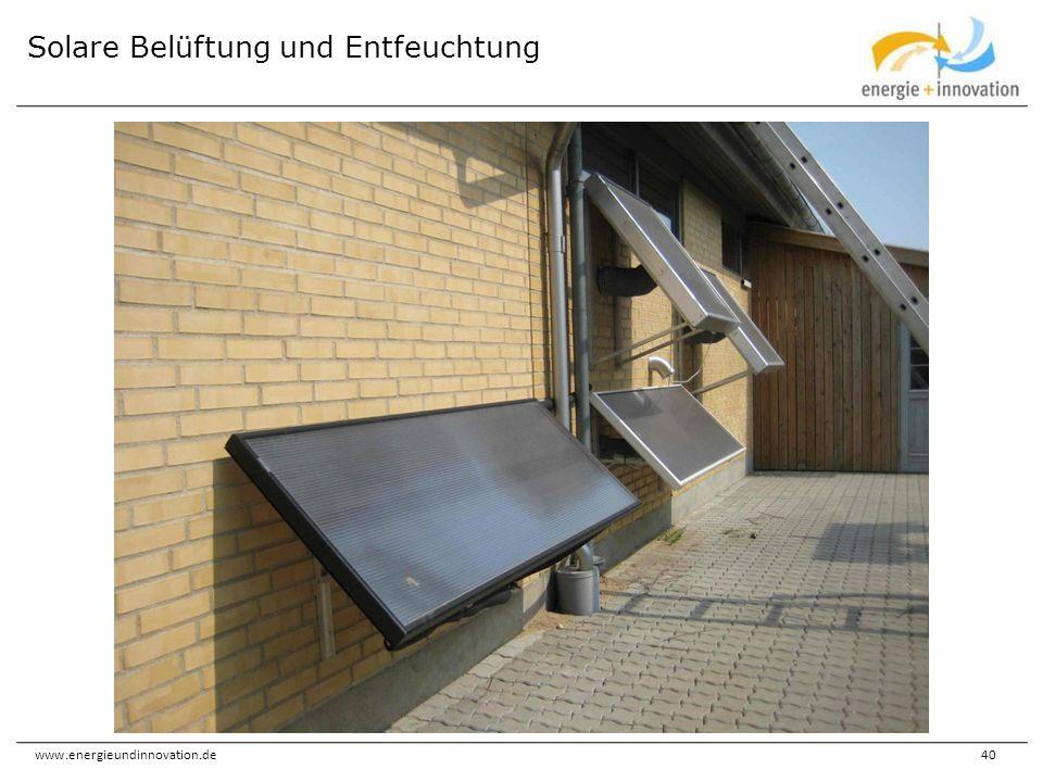 www.energieundinnovation.de40 Solare Belüftung und Entfeuchtung