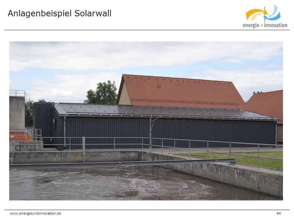 www.energieundinnovation.de44 Anlagenbeispiel Solarwall