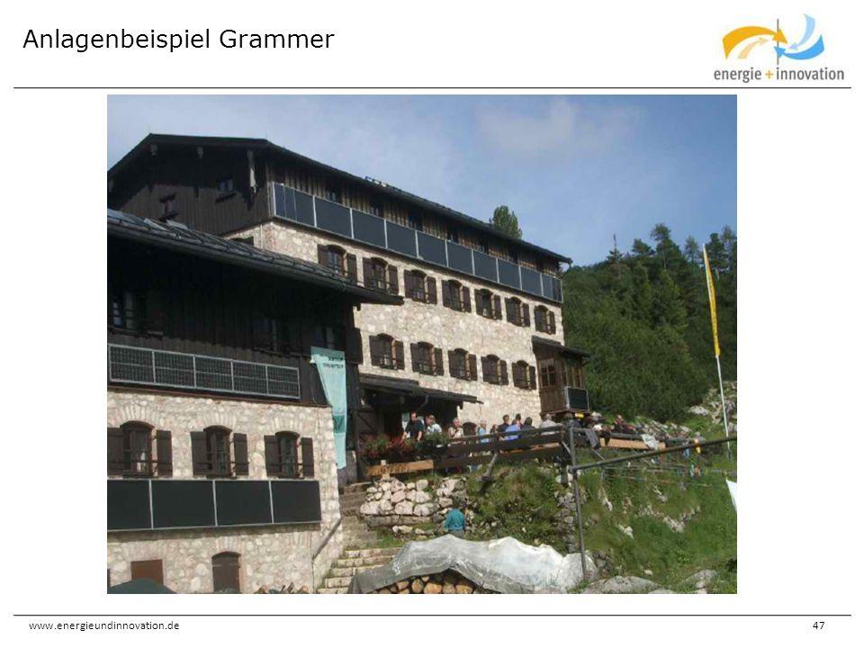 www.energieundinnovation.de47 Anlagenbeispiel Grammer
