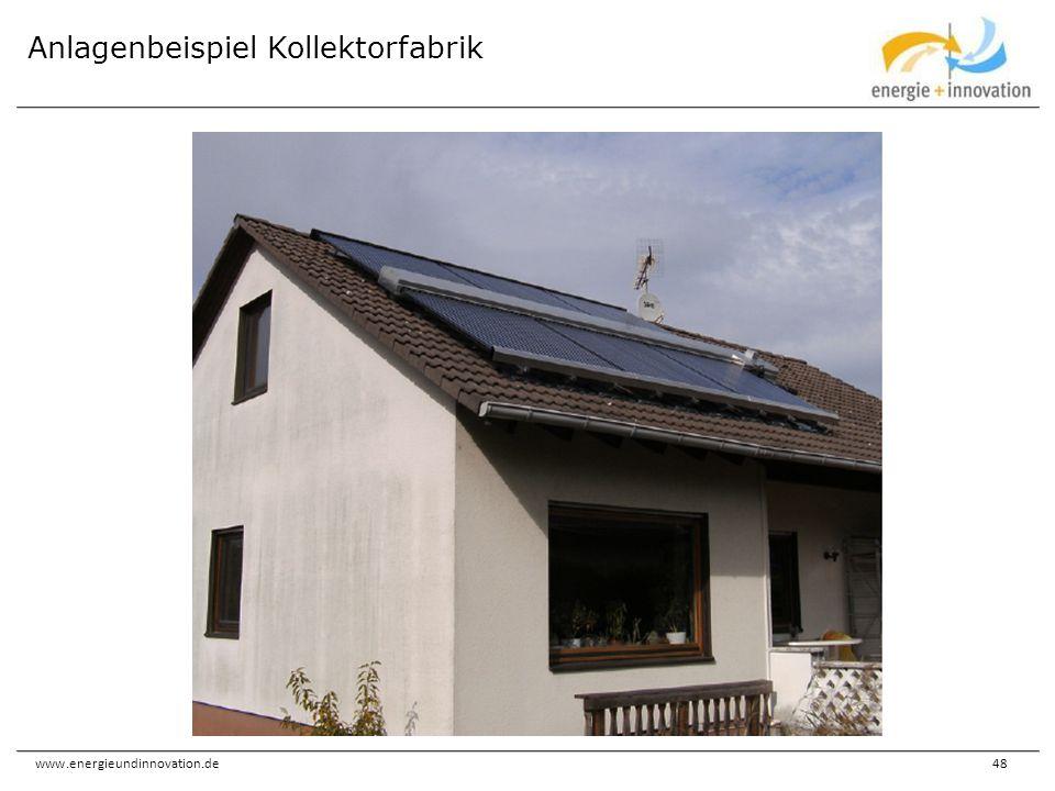 www.energieundinnovation.de48 Anlagenbeispiel Kollektorfabrik