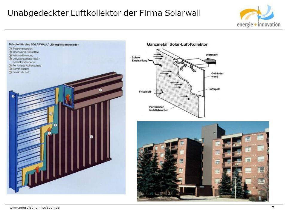 www.energieundinnovation.de7 Unabgedeckter Luftkollektor der Firma Solarwall