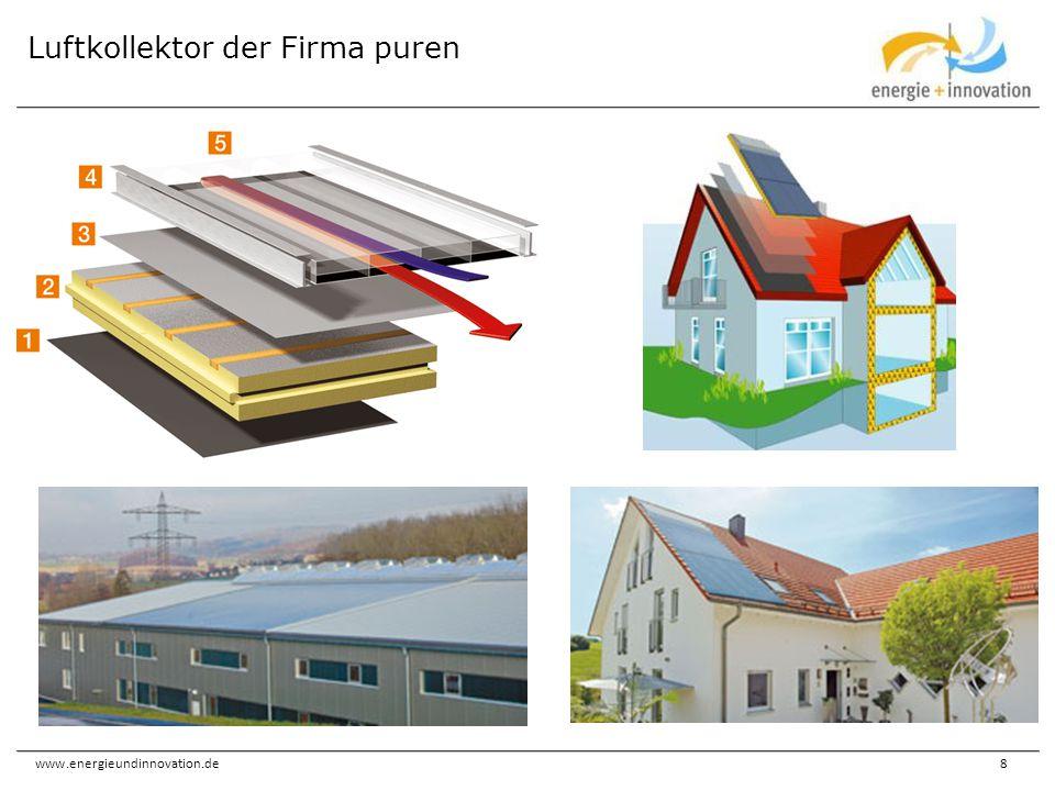 www.energieundinnovation.de49 Warmluftheizungen sind in Deutschland nicht sehr verbreitet – wegen der novellierten EnEV, des EEWärmeG und des Einbaus kontrollierter Lüftungen wird sich das ändern Mangelnde Kenntnis über die Existenz von Luftkollektoren Größere Kanalquerschnitte Warme Luft lässt sich schwerer speichern Kaum finanzielle Unterstützung BAFA-Förderung: Cona, Grammer und SolarVenti Hemmnisse Münchner Förderprogramm Energieeinsparung 3.5 Sondermaßnahmen (bei Bestands- und Neubauten) Sondermaßnahmen sind nach Einzelfallentscheidung förderfähig.