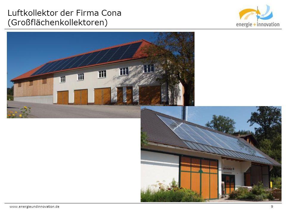 www.energieundinnovation.de10 Luftkollektor der Firma Grammer (Großflächenkollektor)