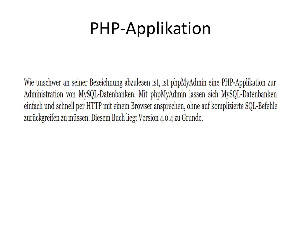PHP-Applikation
