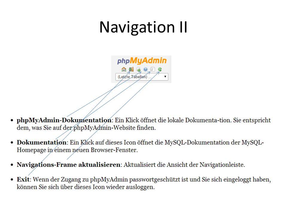 Navigation II