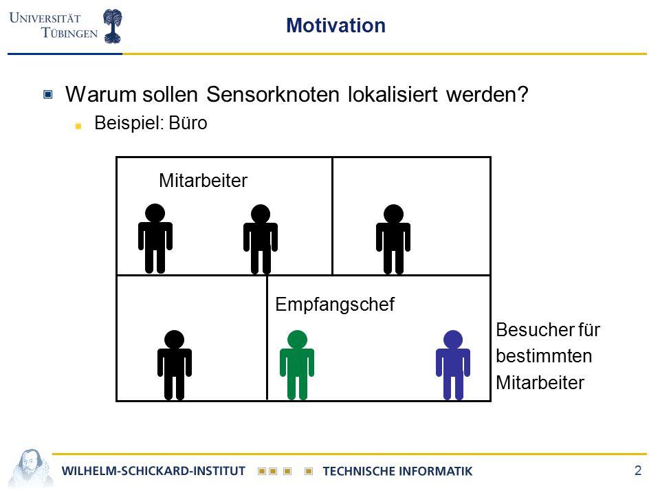 2 Motivation Warum sollen Sensorknoten lokalisiert werden.