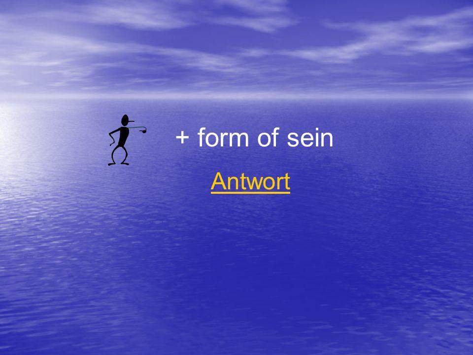 + form of sein Antwort