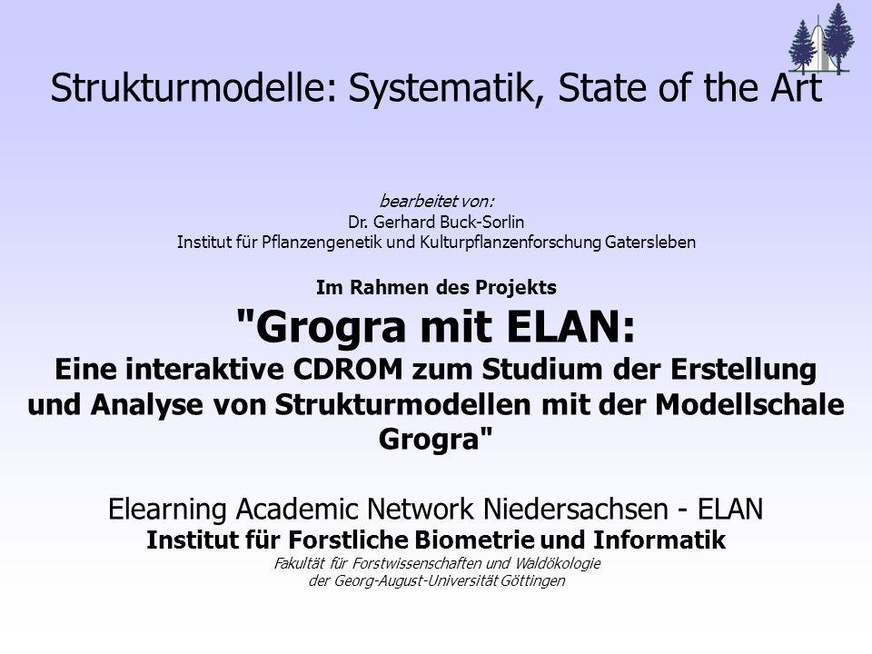 Strukturmodelle: Systematik, State of the Art bearbeitet von: Dr.
