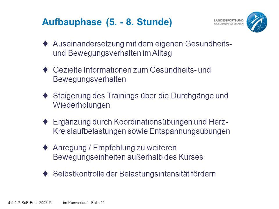 Aufbauphase (5. - 8.
