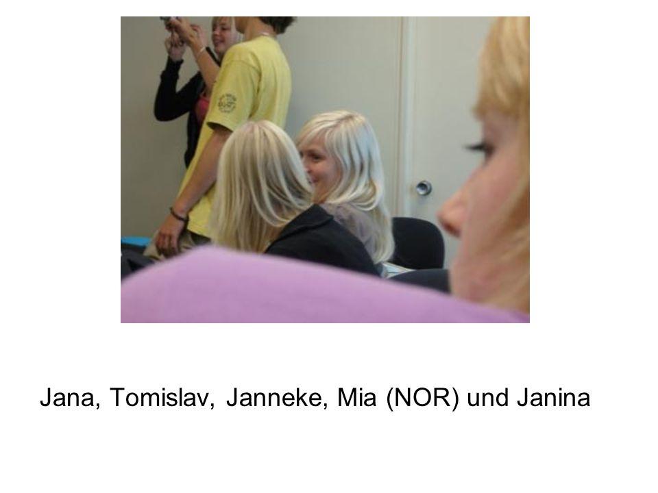Jana, Tomislav, Janneke, Mia (NOR) und Janina