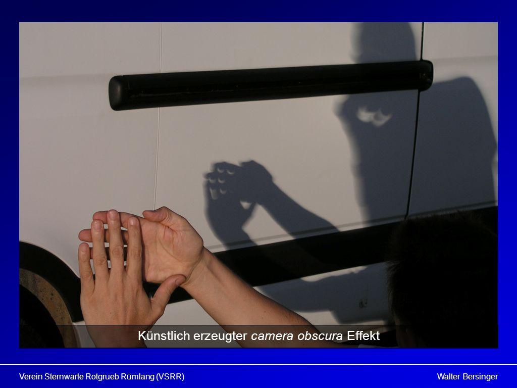 Walter BersingerVerein Sternwarte Rotgrueb Rümlang (VSRR) Künstlich erzeugter camera obscura Effekt