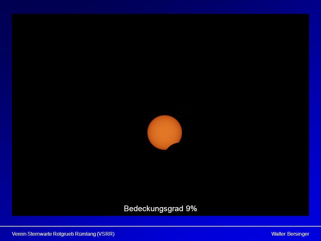 Walter BersingerVerein Sternwarte Rotgrueb Rümlang (VSRR) Bedeckungsgrad 9%